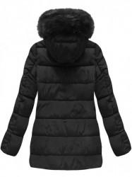 Čierna prešívaná zimná bunda B3572