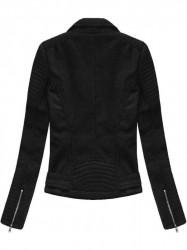 Čierna semišová dámska bunda 6008