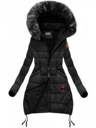 Čierna zimná bunda B3595