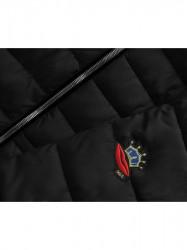 Čierna zimná bunda B3595 #2