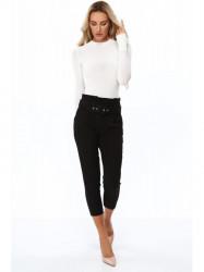Čierne dámske elegantné nohavice 0273