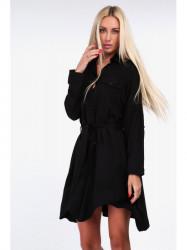 Čierne dámske košeľové šaty 19590