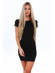 Čierne dámske šaty 08093