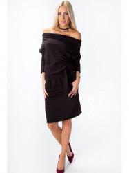 Čierné šaty s odhalenými  ramenami