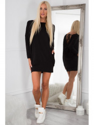 Čierne šaty s vreckami 3656