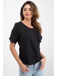 Čierne tričko s vreckom