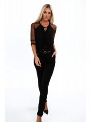 Čierny elegantný overal 4121 #1