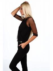 Čierny elegantný overal 4121 #3