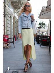 Citronová asymetrická sukňa