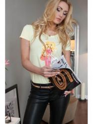 Citrónové tričko s potlačou