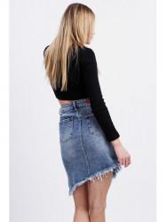 Dámska asymetrická riflová sukňa 16150 #2