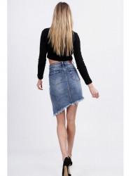 Dámska asymetrická riflová sukňa 16150 #4