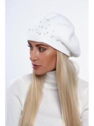Dámska baretka na zimu C26, biela