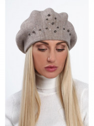 Dámska baretka na zimu C26, hnedá