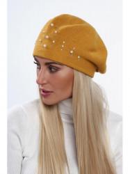Dámska baretka na zimu C26, žltá