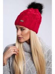 Dámska červená čiapka C23