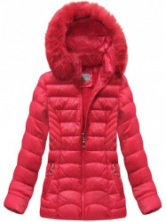 Dámska červená zimná bunda B1036-30
