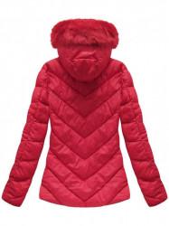 Dámska červená zimná bunda B1037-30