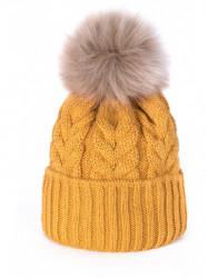 Dámska čiapka, žltá