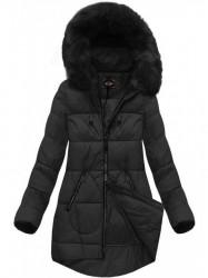 Dámska čierna zimná bunda 7703BIG