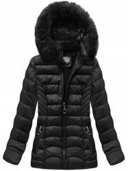 Dámska čierna zimná bunda B1036-30
