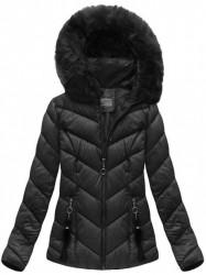 Dámska čierna zimná bunda B1037-30