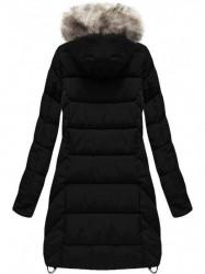 Dámska čierna zimná bunda W737