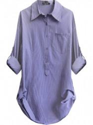 Dámska dlhá košeľa X1710X fialová