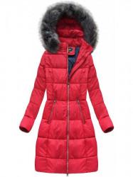 Dámska dlhá zimná bunda 7701, červená