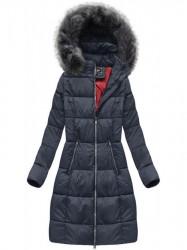 Dámska dlhá zimná bunda 7701, modrá