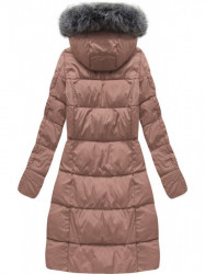 Dámska dlhá zimná bunda 7701, staroružová