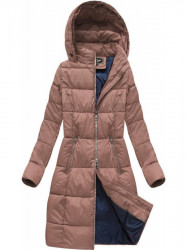 Dámska dlhá zimná bunda 7701, staroružová #1