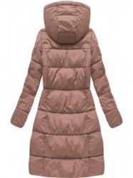 Dámska dlhá zimná bunda 7701, staroružová #2
