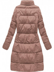 Dámska dlhá zimná bunda 7701, staroružová #4