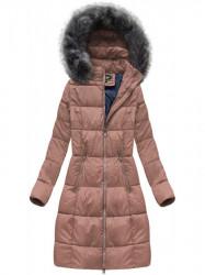 Dámska dlhá zimná bunda 7701, staroružová #5