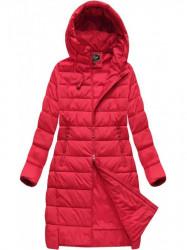 Dámska dlhá zimná bunda 7754BIG, červená #1
