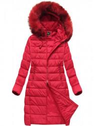 Dámska dlhá zimná bunda 7754BIG, červená #3