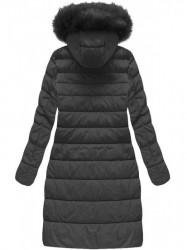 Dámska dlhá zimná bunda 7754BIG, čierna