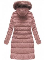 Dámska dlhá zimná bunda 7754BIG, staroružová