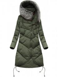 Dámska dlhá zimná bunda 7755 khaki