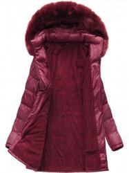Dámska dlhá zimná bunda B1023-30, bordová