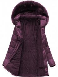 Dámska dlhá zimná bunda B1023-30, fialová