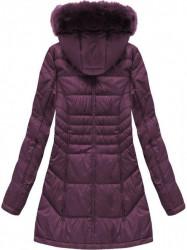 Dámska dlhá zimná bunda B1023-30, fialová #1