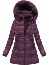 Dámska dlhá zimná bunda B1023-30, fialová #4