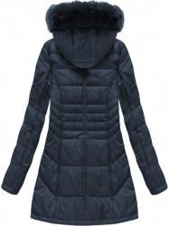Dámska dlhá zimná bunda B1023-30, modrá #1