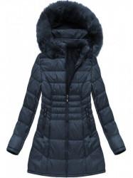 Dámska dlhá zimná bunda B1023-30, modrá #4