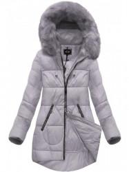 Dámska fialová zimná bunda 7703BIG
