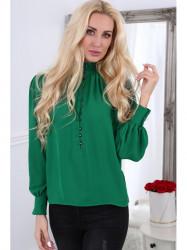 Dámska košeľa MP28540, zelená