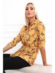 e089d416891e Dámska košeľa s viazaním v páse 20840