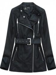 Dámska koženková bunda 5125, čierna
